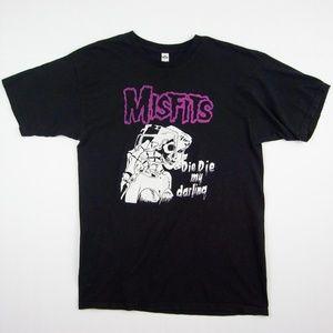 HOT Misfits Die Die My Darling Style Rock Tshirt L